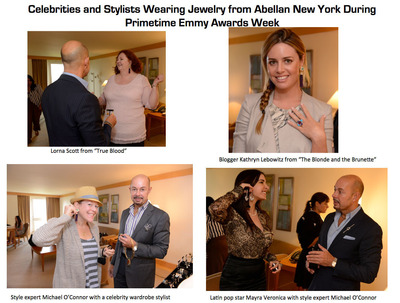 Celebrities And Their Stylists Previewed Jewelry From Abellan New York At StyleLab's Jewelry Event For The 65th Annual Primetime Emmy Awards.  (PRNewsFoto/StyleLab)