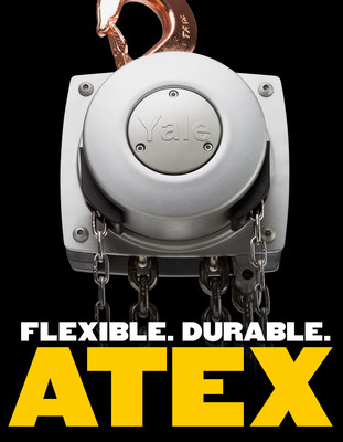 When you need a rugged manual hoist ideal for use in harsh environments, turn to the new Yalelift 360 ATEX hand chain hoist from Columbus McKinnon. The Yalelift 360 ATEX is built for hazardous environments and is designed to meet ATEX requirements. The hoist features a spark-resistant, copper-coated suspension and load hooks; stainless steel load and hand chain; and bronze trolley wheels. Unique in design and performance, the Yalelift 360 ATEX hoist also features a patented hand chain cover that rotates...