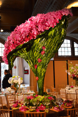 Hundreds of orchids cascading from more than 7 feet high!!!!!!     (PRNewsFoto/Alaric Flower Design)