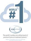 Based on the Verify Markets study of 2013 global sales, Atmosphere is the world's number one selling brand of premium home air treatment systems
