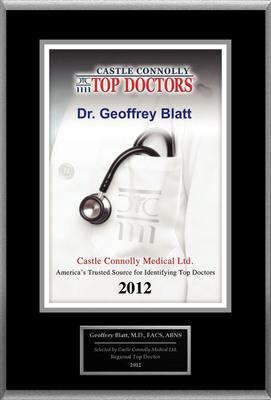 Dr. Geoffrey Blatt Is Recognized By Castle Connolly As One Of The Regional Top Doctors In Neurological Surgery.  (PRNewsFoto/American Registry)