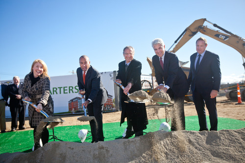 TripAdvisor Groundbreaking Ceremony of new 282,000 square-foot global headquarters in Needham, Massachusetts.  (PRNewsFoto/TripAdvisor)