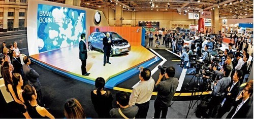 BMW Product Launch Press Conference at the 2013 Macau Auto Show. (PRNewsFoto/China National Automotive)