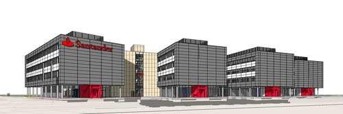 W. P. Carey adds to global footprint with Banco Santander German build-to-suit transaction. The Class-A office building is scheduled for completion in 2015 and will be located in the Nordpark area of Monchengladbach, a growing business park with excellent transport connections. Together with Santander's existing headquarters, this facility will act as the company's primary business location in Germany. (PRNewsFoto/W. P. Carey Inc.) (PRNewsFoto/W. P. CAREY INC.)