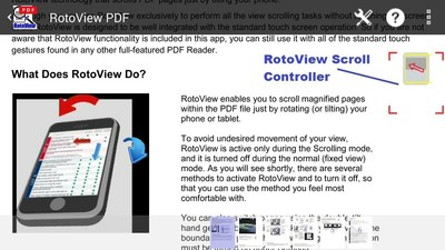 RotoView scroll controller.