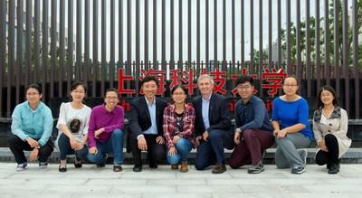The iHuman Institute research team. Left to right: Mengchen Pu, Wenqing Shui, Suwen Zhao, Zhi-jie Liu, Tian Hua, Raymond Stevens, Qu Lu, Yiran Wu, Shanshan Li