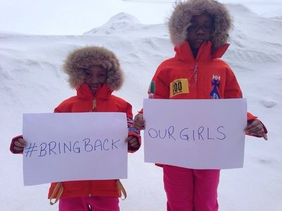 Bring back our Girls: Monica and Aimee Amazu share their message on the anniversary of the Chibok kidnappings. (PRNewsFoto/Challenge 100)
