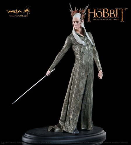 """The Thranduil statue from Weta Workshop is part of Warner Bros. Consumer Products' worldwide licensing program for """"The Hobbit: The Desolation of Smaug.""""(PRNewsFoto/Warner Bros. Consumer Products) (PRNewsFoto/WARNER BROS. CONSUMER PRODUCTS)"""