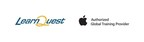 LearnQuest | Apple Authorized Global Training Provider logos