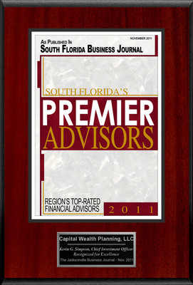 "Capital Wealth Planning Selected For ""South Florida's Premier Advisors.""  (PRNewsFoto/Capital Wealth Planning)"