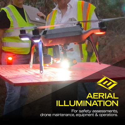 FoxFury drone lights for Safety Assessments, Emergency Response, Fire & Rescue, Disaster Mitigation & Response, and Search & Rescue