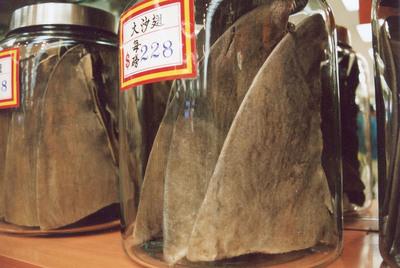 Shark fins sold in San Francisco Chinatown.  (PRNewsFoto/WildAid)
