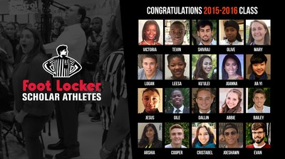 The 2015-2016 Recipients of the $20,000 Foot Locker Scholarship