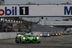 Following their victory at the 24 Hours of Daytona in January, Honda and the Tequila Patron ESM team won Saturday's 12 Hours of Sebring to complete a sweep of classic North American endurance sports car races.