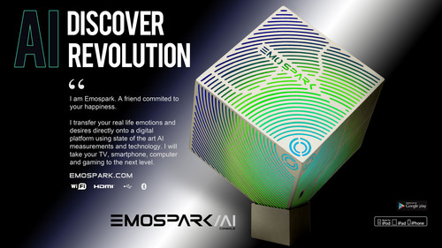 EmoSpark, the world's first home artificial intelligence console that uses emotion text and content analysis to measure the emotional responses of its users. (PRNewsFoto/Emoshape Ltd.) (PRNewsFoto/EMOSHAPE LTD.)