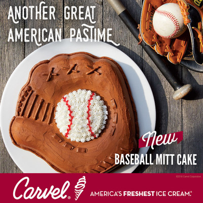Carvel(R) Celebrates Young Baseball Fans Everywhere with New Baseball Mitt Ice Cream Cakes