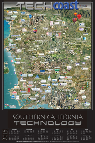 Tech Coast - Silicon Beach - Southern California Technology (PRNewsFoto/Silicon Maps, Inc.)