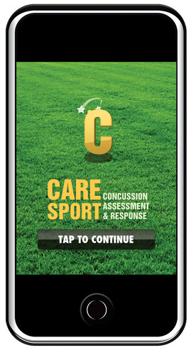 Splash screen of the CARE-Sport Version on an iPhone.  (PRNewsFoto/PAR, Inc.)