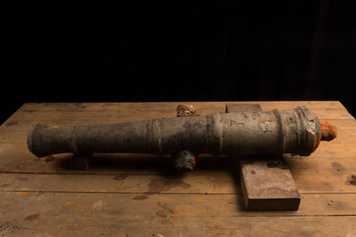 Cannon belonging to Captain Henry Morgan returned to its original state after undergoing preservation process in the Patronato Panama Viejo.  (PRNewsFoto/Captain Morgan)