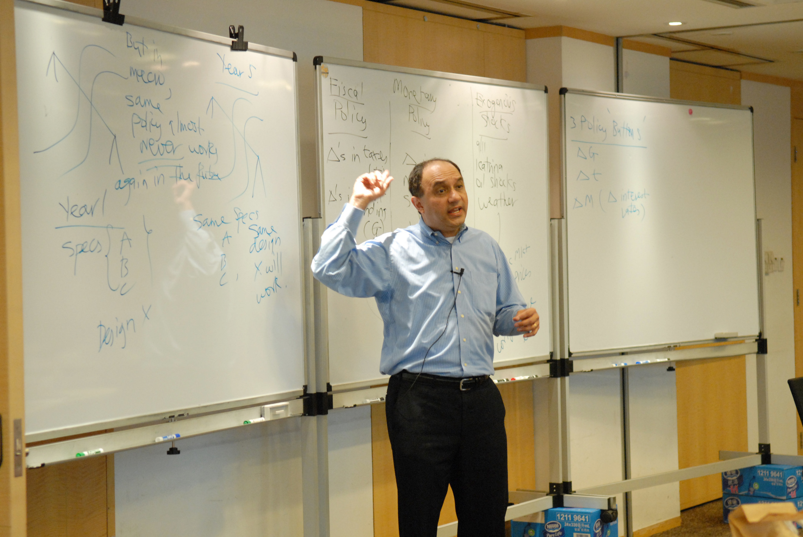Rutgers Executive MBA program constantly updates the curriculum. Program director Farrokh Langdana shown teaching in the photo, is the recipient of the Horace dePodwin Research Award and more than 35 teaching awards, including the highest possible teaching award at Rutgers University - the Warren I. Susman Award.