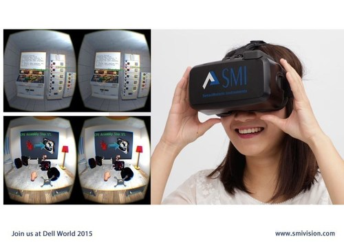 Dell World, SMI demonstrates gaze-assisted human-computer-interaction and training for professionals in virtual reality. (PRNewsFoto/SensoMotoric Instruments GmbH) (PRNewsFoto/SensoMotoric Instruments GmbH)