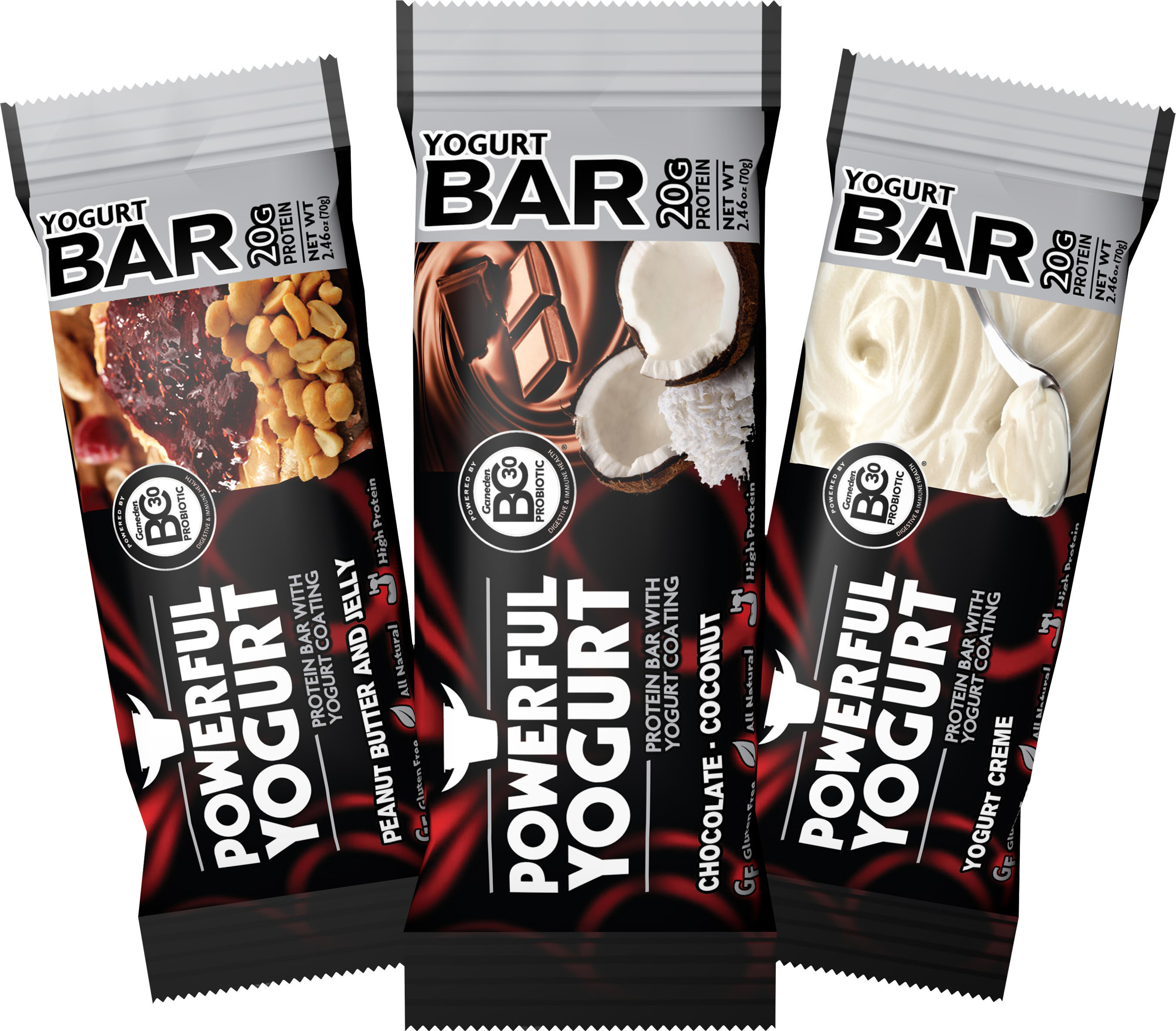Powerful Yogurt Protein Bars.  (PRNewsFoto/Powerful Yogurt)