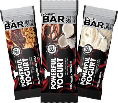 Powerful Yogurt Protein Bars. (PRNewsFoto/Powerful Yogurt) (PRNewsFoto/POWERFUL YOGURT)