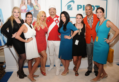 Ice-T, Coco Austin, and Jay Manuel visit GBK and Sparkling Hill Luxury Style Lounge at New York Fashion Week at the Empire Hotel. (PRNewsFoto/GBK) (PRNewsFoto/GBK)