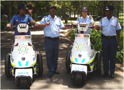 T3 ESVs in use by SAPS.  (PRNewsFoto/T3 Motion, Inc.)