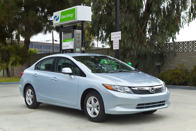 The Honda Civic NGV, compressed natural gas vehicle is available at Honda Motorwerks in La Crosse, WI. The dealership has a large selection of natural gas vehicles that will save customers money and lower CO2 emissions.  (PRNewsFoto/Honda Motorwerks)
