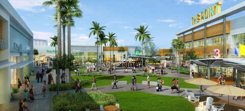 Rendering of The Point, a new $80 million shopping and dining destination. (PRNewsFoto/Federal Realty) ...