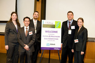 Rutgers Pharmaceutical MBA students regularly win prestigious case competitions against students from other top business schools. In 2011, a team of Rutgers students swept the Biotech and Healthcare Case Competition at the Kellogg School of Management.  (PRNewsFoto/Rutgers Business School, Kellogg School of Management)