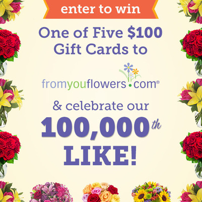 From You Flowers Hosts Special Sweepstakes for 100,000 Facebook Fans. (PRNewsFoto/From You Flowers)