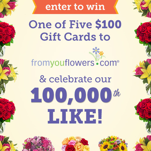 From You Flowers Hosts Special Sweepstakes for 100,000+ Facebook Fans