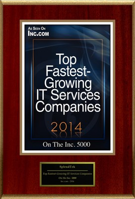 "SplendTek, Inc Selected For ""Top Fastest-Growing IT Services Companies"""