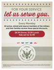 Ryan's®, HomeTown® Buffet, And Old Country Buffet® Salute Military And Their Families With New Discount Program, November 10