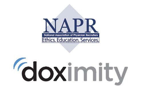 NAPR Partners with Doximity Talent Finder.  (PRNewsFoto/National Association of Physician Recruiters)