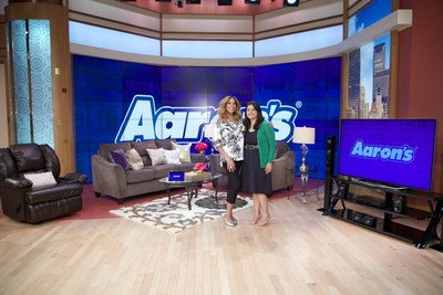 Aaron's and The Wendy Williams Show surprised San Antonio resident Rosa Serna and her family with a brand new living room group and electronics entertainment package as a part of the 'Win a Room in June' contest.