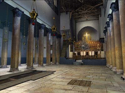 Take an educational 3D tour of The Church of the Nativity in Bethlehem.  (PRNewsFoto/Jerusalem.com)