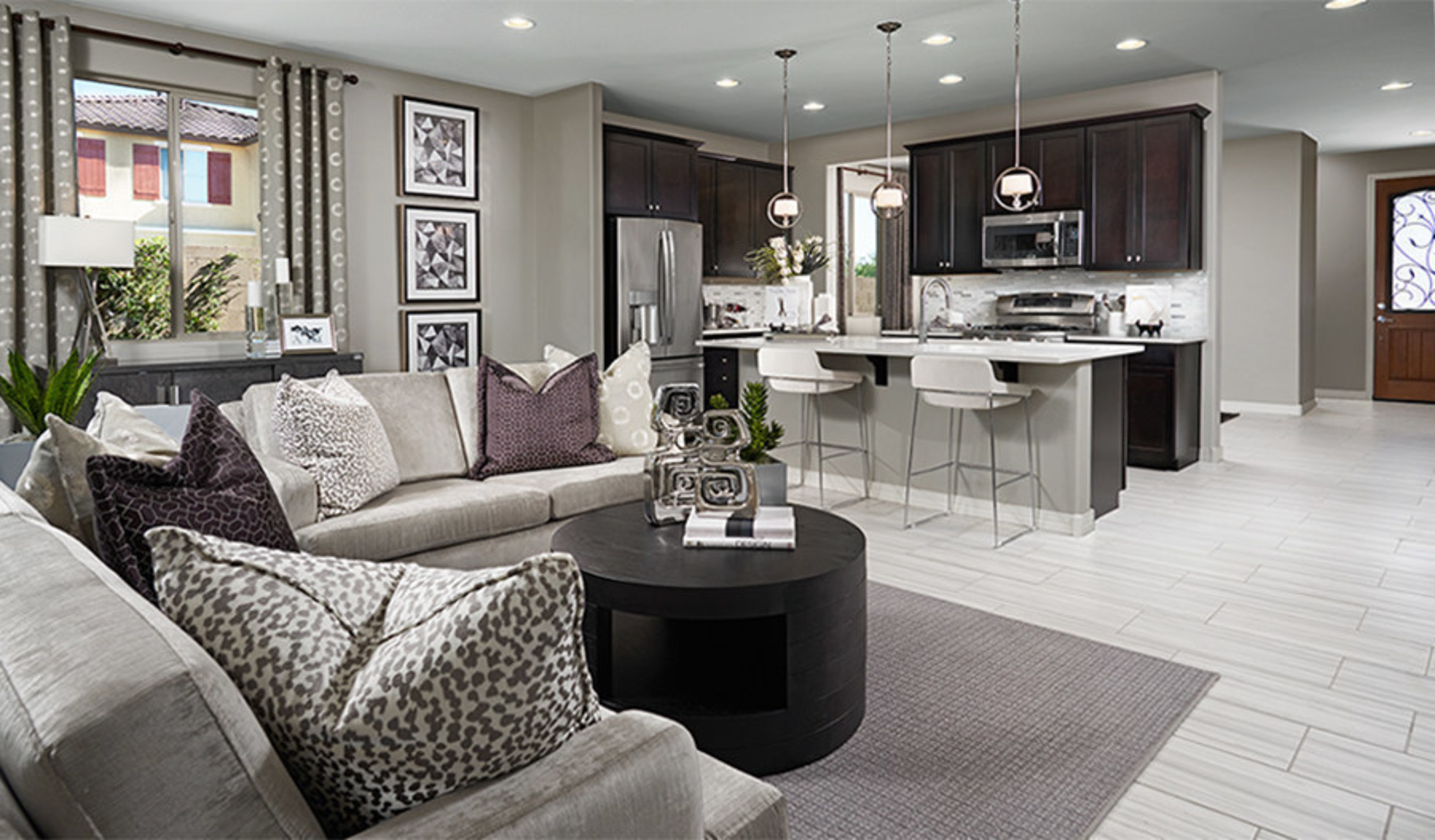 The Amethyst plan at Seasons at Traditions boasts an open kitchen and great room.