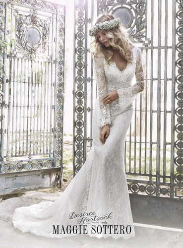 Television sweetheart Desiree Hartsock launches wedding dress collection with Maggie Sottero. ...