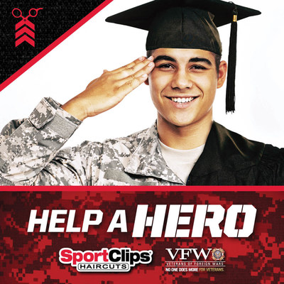 Get a haircut, Help A Hero during Sport Clips' scholarships for veterans campaign. (PRNewsFoto/Sport Clips Haircuts)