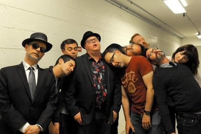 "Members of comedy troupe The State and ""The Union of The State"" author Corey Stulce, fourth from left, nap backstage at the Upright Citizen's Brigade Theatre. (Photo by Amy Rachlin)"