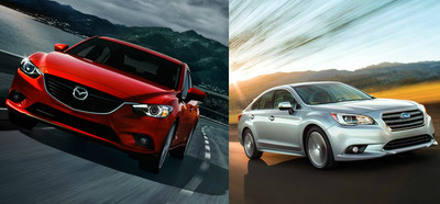 Ingram Park Mazda stacks up the 2015 Mazda 6 against the 2015 Subaru Legacy. (PRNewsFoto/Ingram Park CDJ)