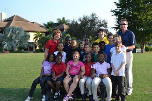 Pictured are Angela Cohen, Jack Barrett and Harley Abrams with The Boys and Girls Clubs of Delray Beach and Boca Raton.  (PRNewsFoto/Boca Grove Golf and Tennis Club)