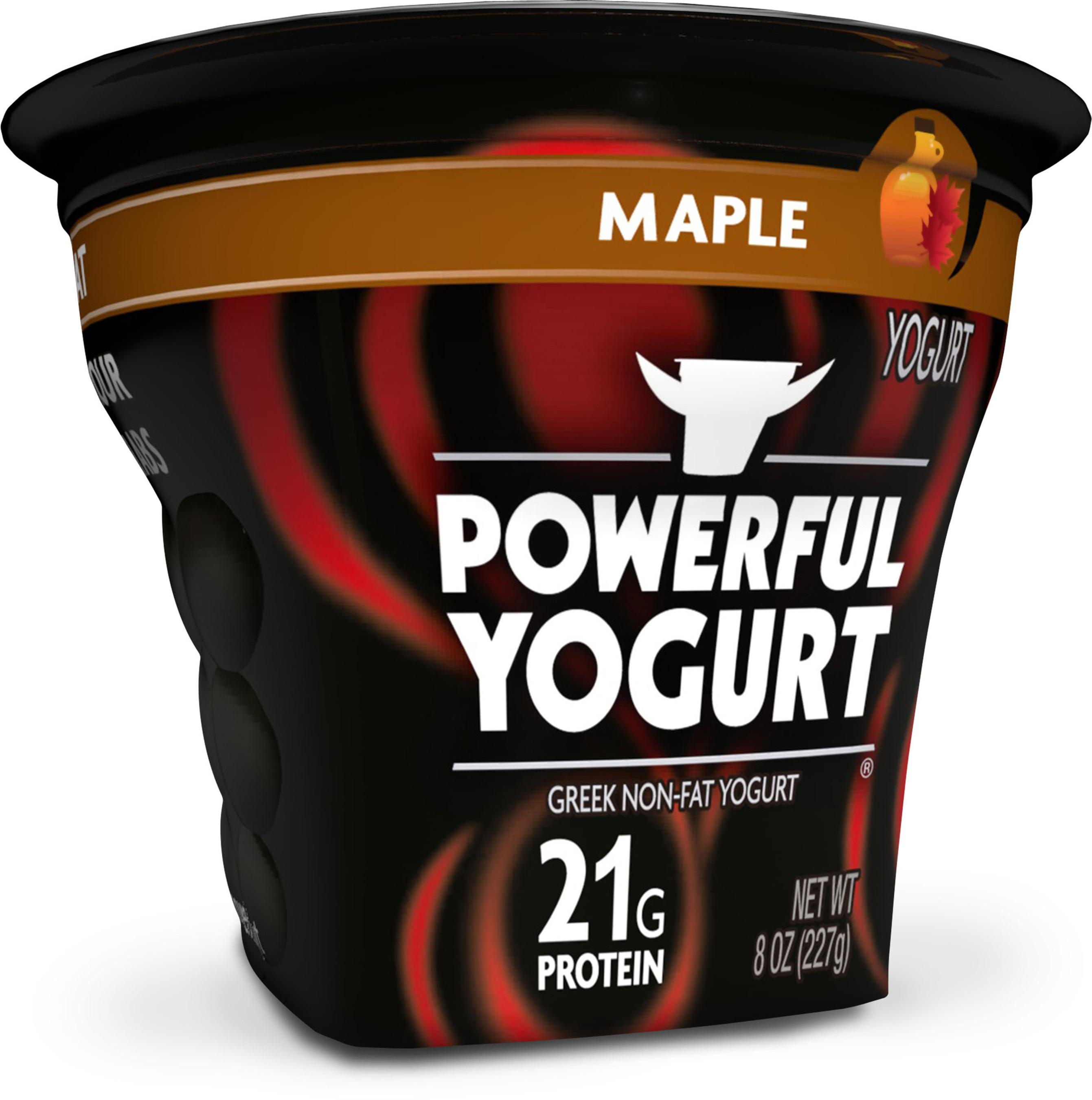 Maple Powerful Yogurt image.(PRNewsFoto/Powerful Yogurt)