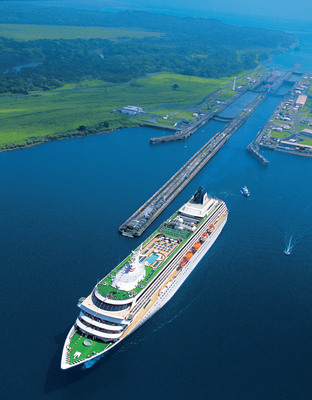 "A spring voyage through the Panama Canal is one of several innovative ""repositioning"" cruises Crystal offers for 2013, this one repositioning from the U.S. West Coast to the East.  (PRNewsFoto/Crystal Cruises)"