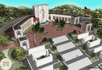 Architectural rendering showing the new pavilions which will be dedicated Nov. 11, at the Honolulu Memorial in the National Memorial Cemetery of the Pacific.  The  pavilions will house porcelain panels  providing an orientation to the memorial and mosaic maps that will honor the members of the U.S. armed forces who served in the Vietnam War.  The memorial was established by the American Battle Monuments Commission in 1966 to honor the sacrifices and achievements of American armed forces in the Pacific during World War II and the Korean War.  The memorial grew in 1980 to include the Missing of the Vietnam War.   (PRNewsFoto/American Battle Monuments Commission)