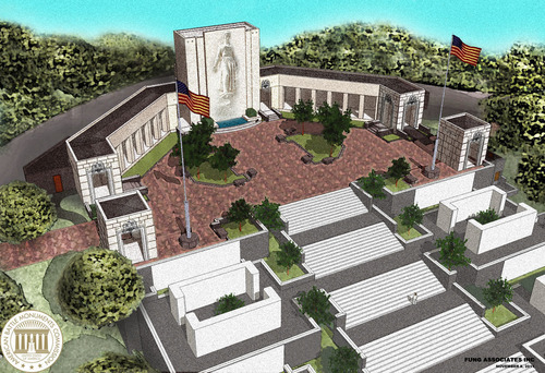 Architectural rendering showing the new pavilions which will be dedicated Nov. 11, at the Honolulu Memorial in ...
