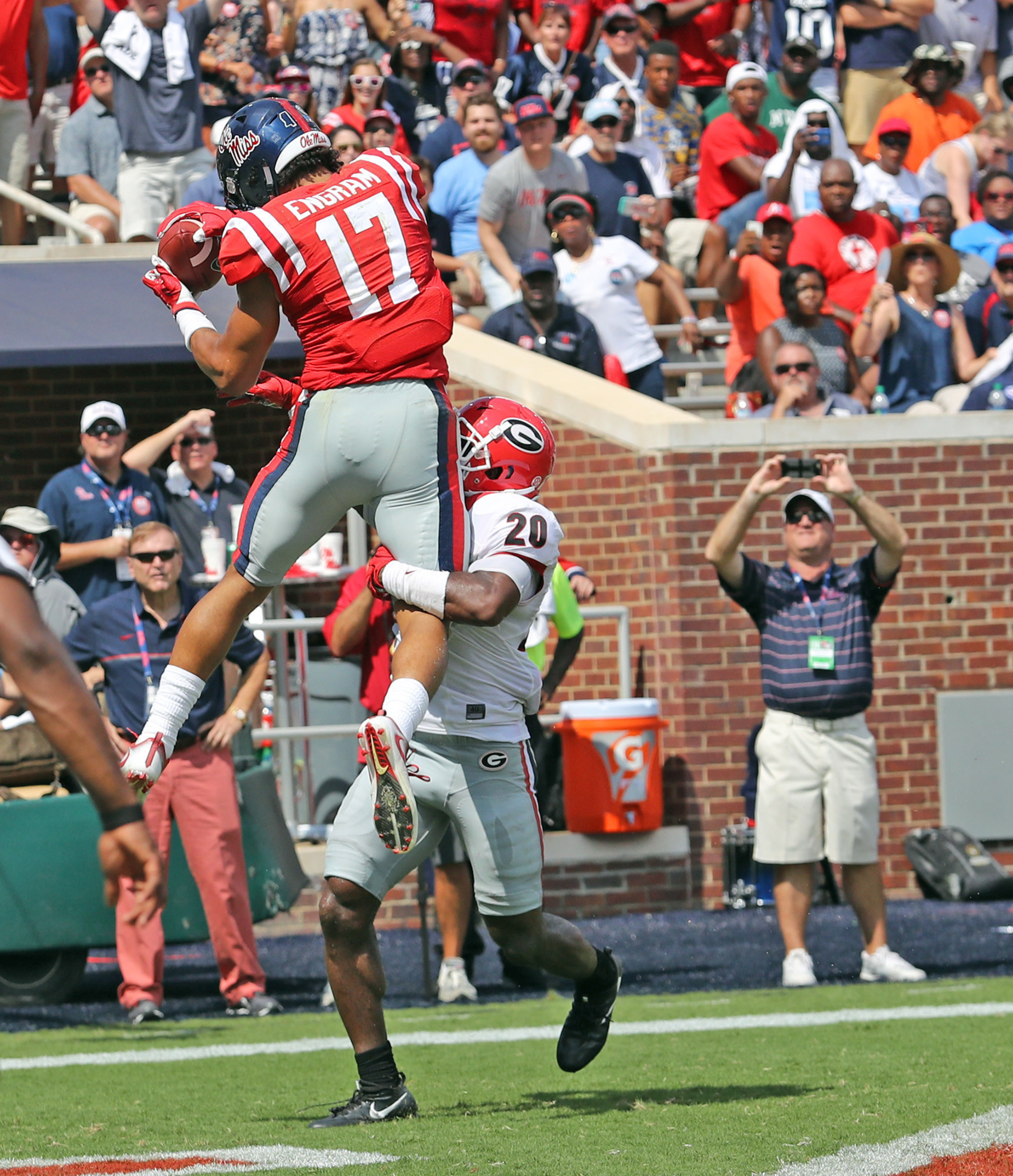 Ole Miss tight end Evan Engram, who led the nation in receiving among college tight ends, won the 2016 C Spire Conerly Trophy, which honors the top college football player in Mississippi. Photo Credit: Ole Miss Athletics